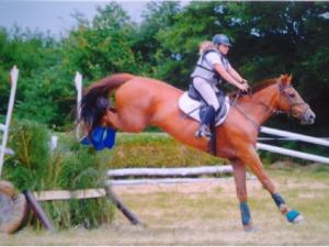 mme doublier sur son cheval